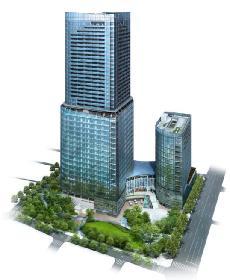 2013年竣工予定のワテラスの完成予想。日本政策投資銀行からプラチナの認... 2013年竣工予